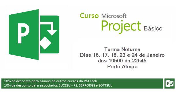Curso presencial de fundamentos da ferramenta Microsoft Project (MS Project) 2013 / 2016 em Porto Alegre, RS. Ministrado pela PM Tech