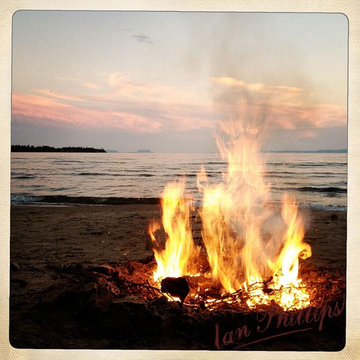 Bonfire • Thunder Bay, on Lake Superior, at The Lakehead