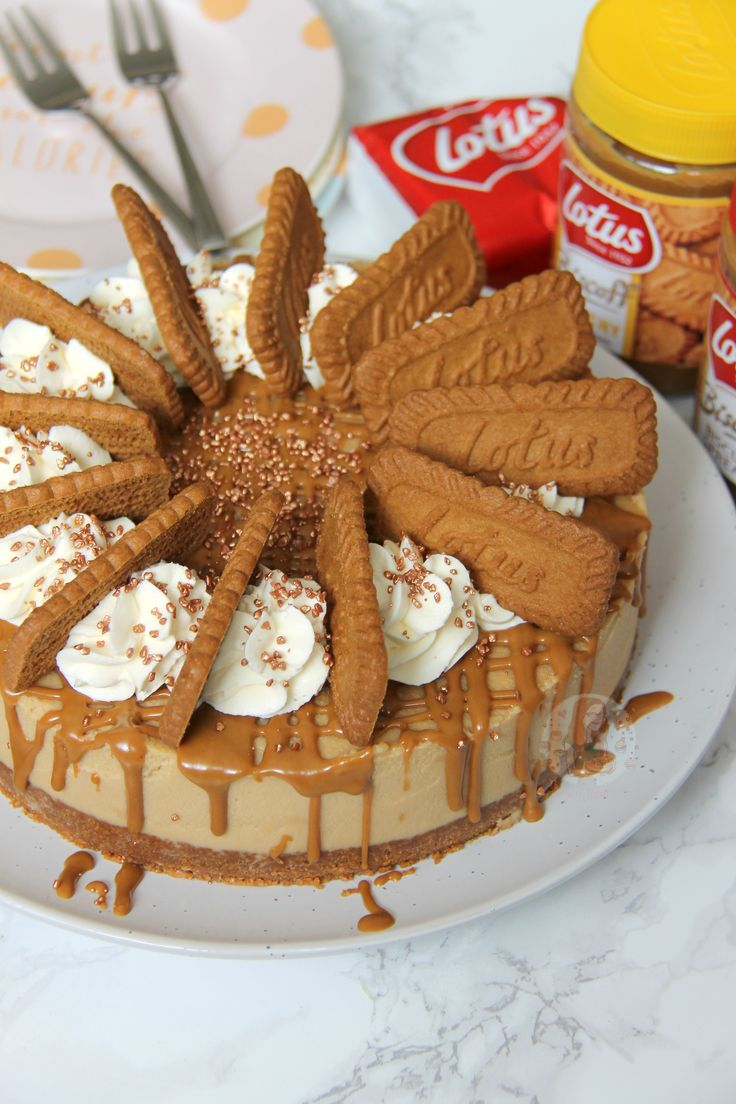 A Delicious No Bake Biscoff Cheesecake With A Lotus Base