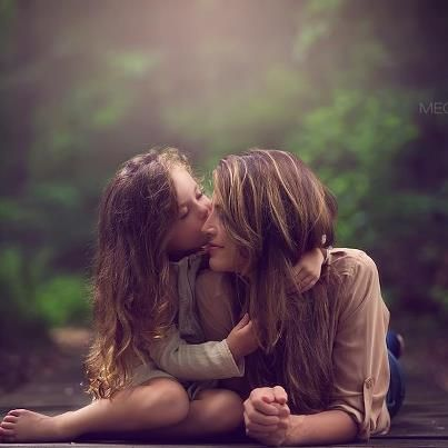 SO love....mother daughter nature.