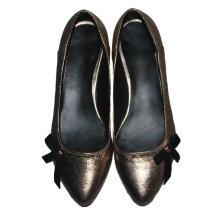 #gold #shoes, #bow# shoes, #black & #gold, #flats, #leather #shoes, #kalishoes.ro, #glamour shoes, #shiny #shoes, #beautiful #shoes, #kalishoes