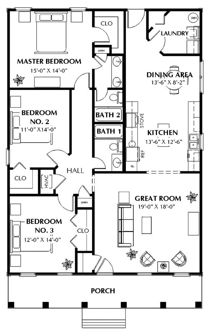 60 Best Small House Plans Images On Pinterest Houses Floor Mesmerizing 30 X Floor Plans Ranch New House Plans House Blueprints