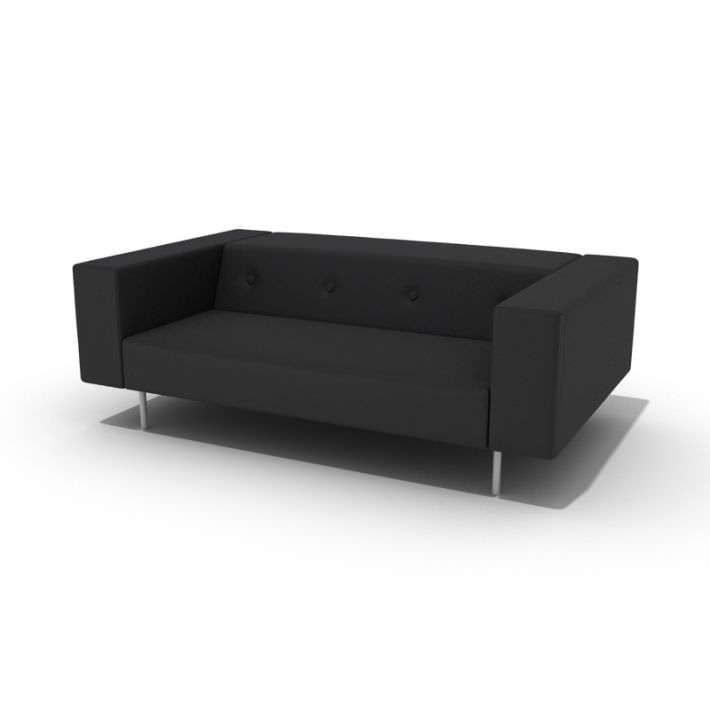 Modern Black Couch By Evermotion High Detailed Model Of Furniture