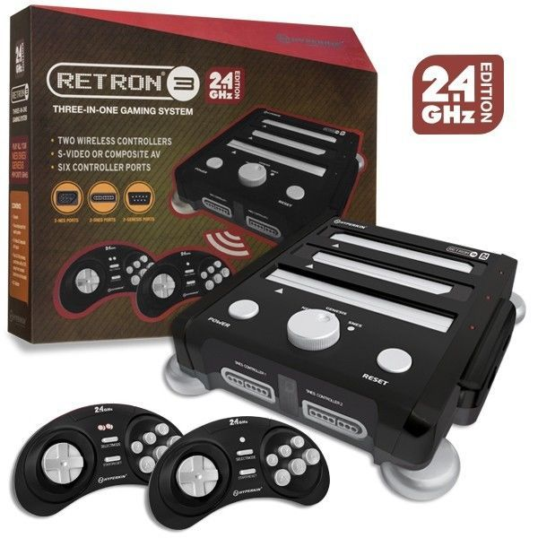#videogames #Gamers #Hyperkin Hyperkin Retron 3 3in1 NES SNES Genesis Retro Game Console 2.4 GHZ – Black 59.99      Item specifics     Condition:        New: A brand-new, unused, unopened,...
