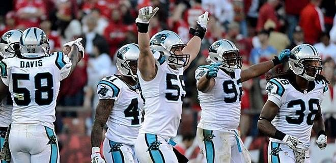 carolina panthers 2013 Champions of NFC South | Carolina Panthers middle linebacker Luke Kuechly celebrates with his ...