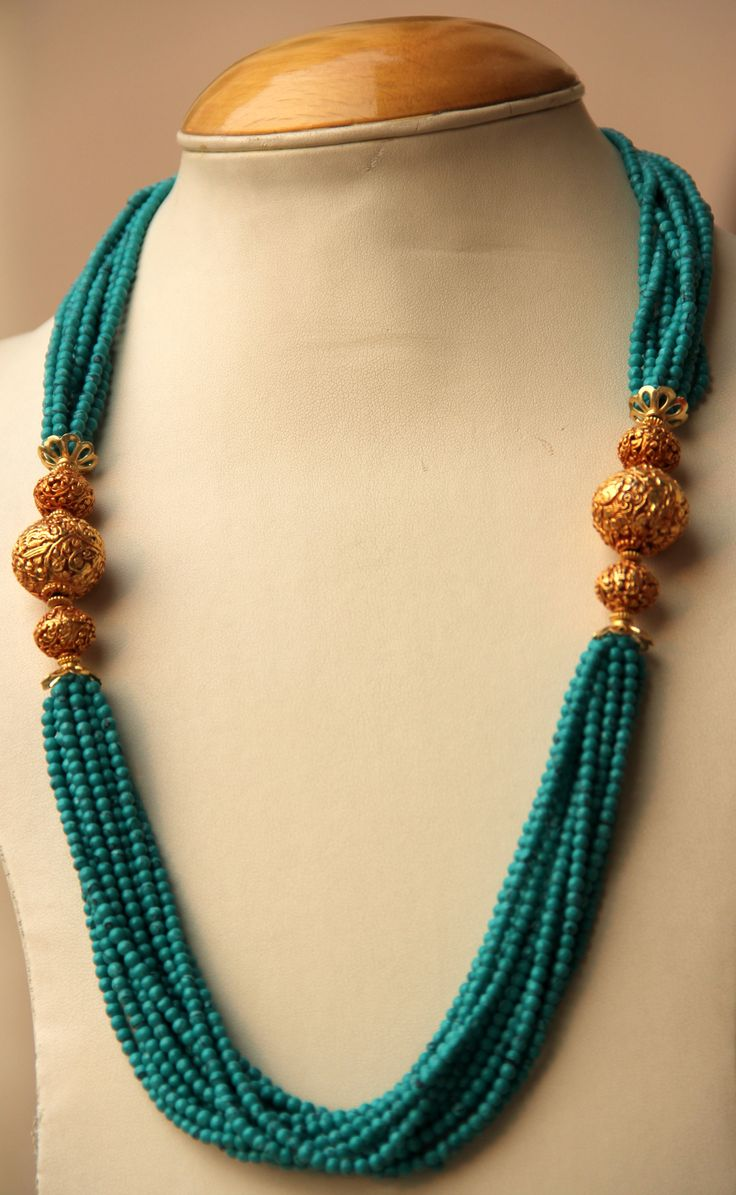 Turquoise green necklace Rs. 3,250.00