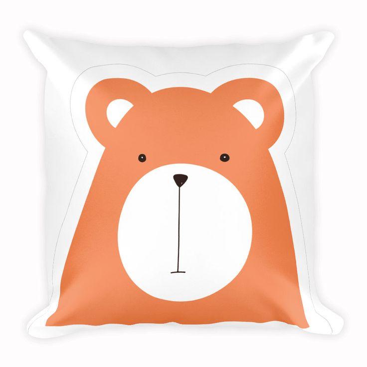 Cute Bear Cushion, Animal Pillow, Home Decor, 18x18 inch by CozyDesignCo on Etsy
