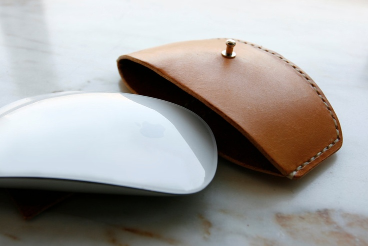 Handmade mxs Leather magic mouse case - made to order. $60.00, via Etsy.