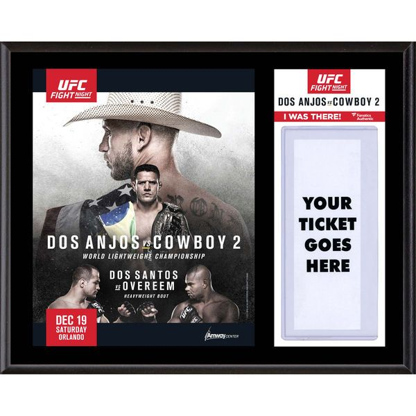 Fanatics Authentic UFC Fight Night Rafael dos Anjos vs. Donald Cerrone Dueling ''I Was There'' 12'' x 15'' Sublimated Plaque - $39.99
