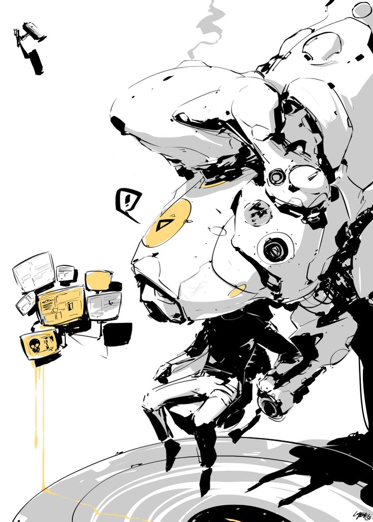 fuck yeah cyberpunk — Doodle -CYBE Mikołaj Piszczako
