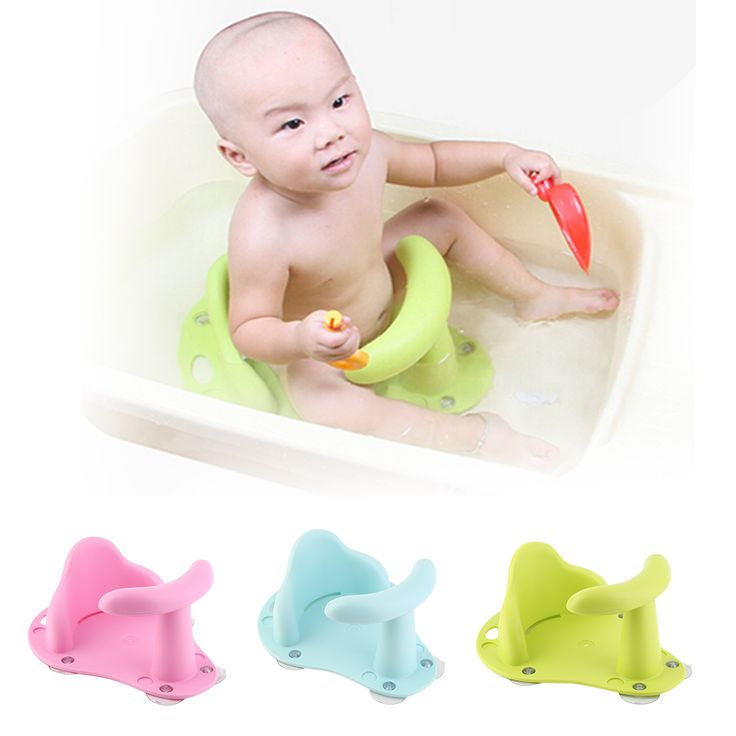 New Baby Child Toddler Bath Tub Ring Seat Infant Anti Slip Safety Chair Kids Bathtub Mat Non-slip Pad Baby Care Bath Products