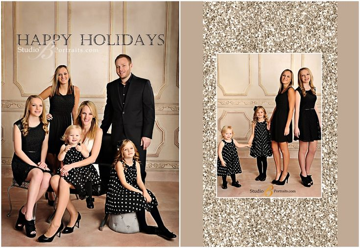 Formal Christmas Pictures of 4 daughters with Mom and Dad_Studio B Portraits_0182.jpg