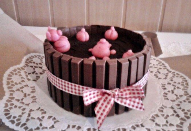 Csokoládés malacfürdő torta