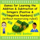 Need help teaching your students the rules for adding and subtracting positive and negative numbers?  Click here to find a resource that doesn't focus on memorization of rules.    Addition & Subtraction of Integers - Adding and Subtracting Positive and Negative Numbers - Fun Game - Batttle the Banker.  This resource focuses on:  adding integers, subtracting integers, fun lear...