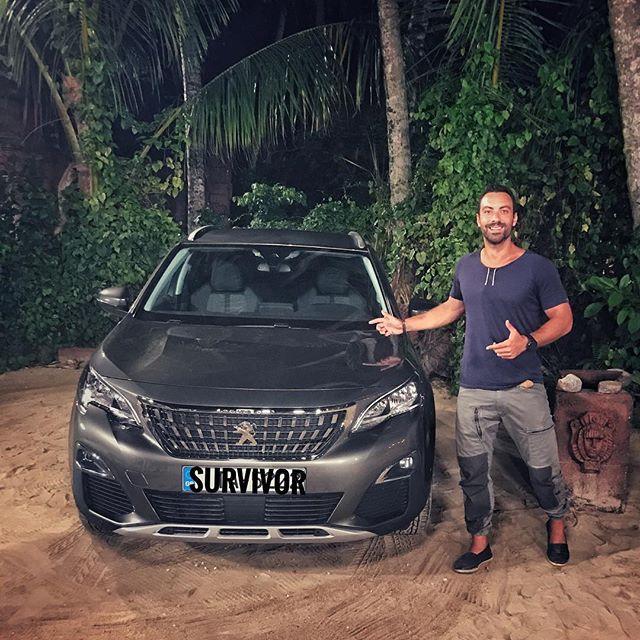 """Αυτο το επαθλο το """"ζηλεψα"""" κι εγω! Συγχαρητηρια στον Κωνσταντινο (η μαλλον στην κ. Αλικη 😝). Αυτο το Peugeot το εχω λατρεψει, καταπληκτικο design! #survivor #WeGaveACar #toafentikotrelathike #Peugeot"""