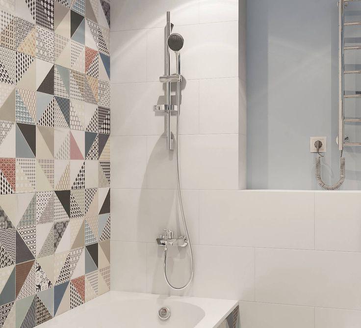 Душевая кабинка в ванной, дизайнерский ремонт - стиль Берлин
