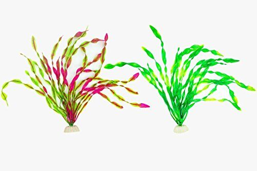 SWET (2 Packs) Aquarium Decor Plastic Plants Artificial Emulational Fish Tank Decorations Green Plant (12.6 inch, Green+Purple):   <b>SWET Artificial Aquatic Plants Aquarium Plants Plastic Fish Tank Decorations</b><br> <br> <b>Package including: </b>2 pieces green aquarium emulational plastic plant with ceramic anchor base.<br> <br> <b>Weight:</b> 130gx 2<br> <br> <b>Material:</b> Plastic and ceramic stone (base)<br> <br> <b>Size: </b>12.6 inches tall; 3.4 x 2 inches (base)<br> <br> <b...