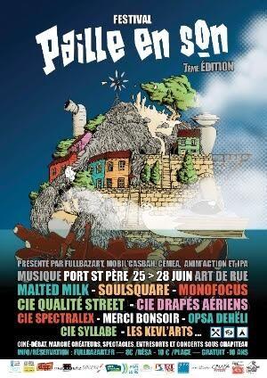 Festival Paille en son. Du 25 au 28 juin 2014 à Port-Saint-Père.