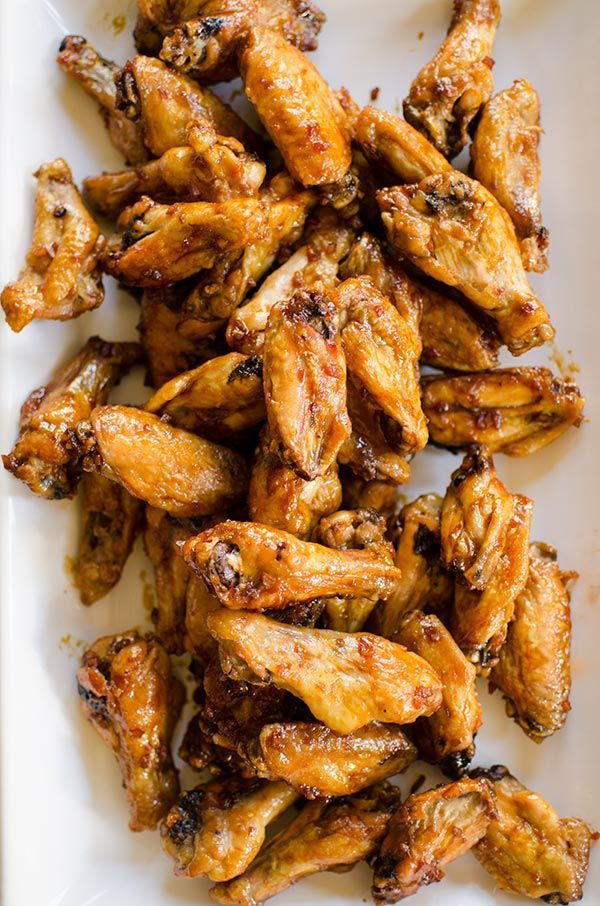 Make your favourite wings in the oven with this crispy recipe for baked teriyaki chicken wings made with baking powder and a homemade teriyaki sauce.