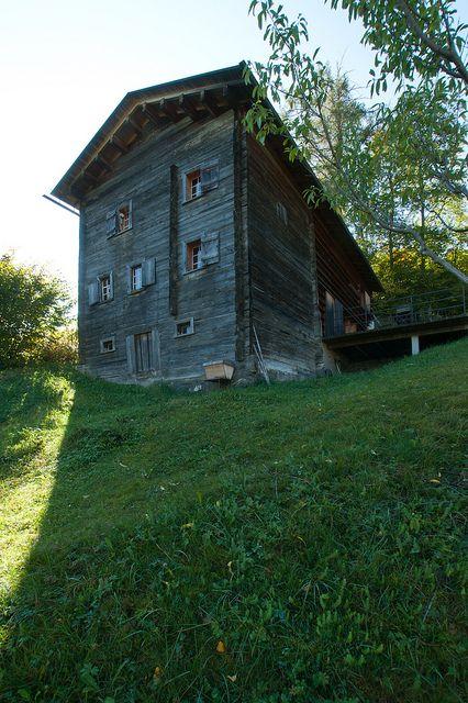 Gugalun House (Haus Truog Gugalun). Versam, GR Switzerland. Peter Zumthor, 1994