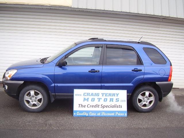 Location:  Craig Terry Motors   Year:  2008   Make:  Kia   Model:  SPORTAGE   VIN:    Trim:    Colour:  BLUE   Transmission:  Automatic   Mileage:   48000   Price: $ 13995.00   Stock #:  C426   Features:      Description:   PLUS HST