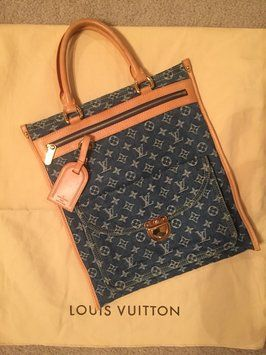 Louis Vuitton Denim Monogram Tote Bag. Get one of the hottest styles of the season! The Louis Vuitton Denim Monogram Tote Bag is a top 10 member favorite on Tradesy. Save on yours before they're sold out!