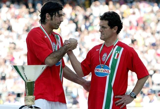 Gigi Buffon and Fabio Capello