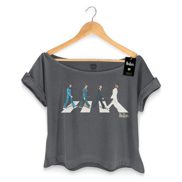 T-shirt Premium Feminina The Beatles Abbey Road