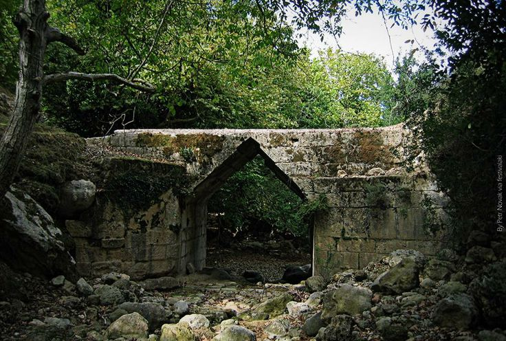 The ancient bridge (about 2000 years old) in Eleftherna, Rethymno countryside