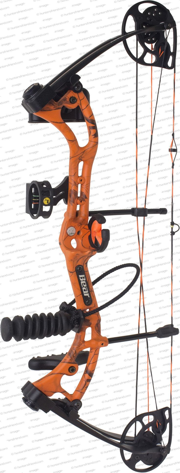 bear apprentice III compound bow kit in orange camo