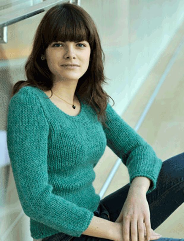 Strik en sweater med hæklede kanter | femina.dk