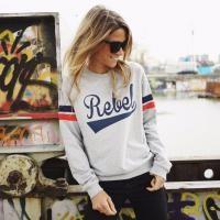 Rebel | Boyfriend Sweat - Truien - Vrouwen