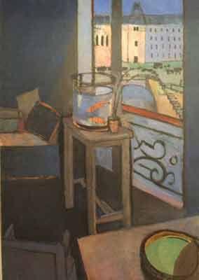 Henri Matisse,  Interieur, Bocal de Poissons Rouges, Printemps Fine Art Reproduction Oil Painting