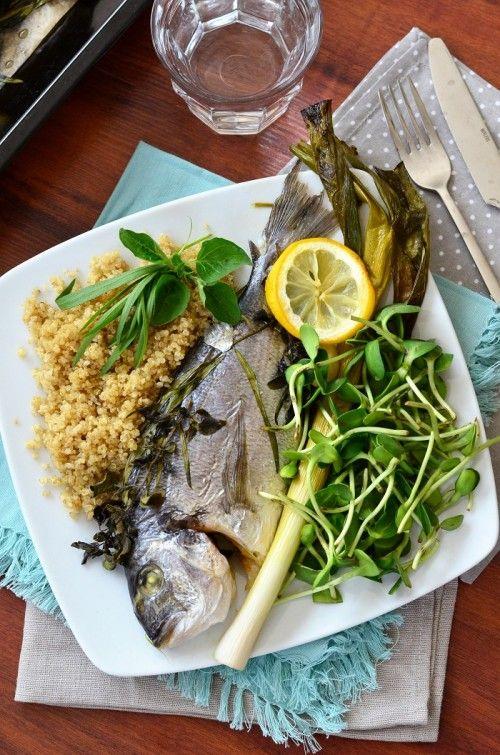 Zöldfűszeres aranydurbincs recept