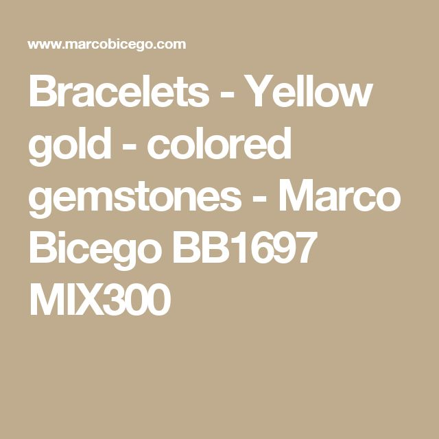 Bracelets - Yellow gold - colored gemstones - Marco Bicego BB1697 MIX300