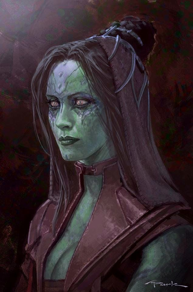See the Purple Gamora That Almost Was in GUARDIANS OF THE GALAXY Concept Art by Andy Park « Film Sketchr