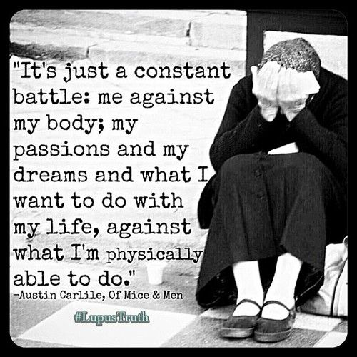 The truth about Lupus. I've felt this way for years and tried to just always push through, overexerting myself.