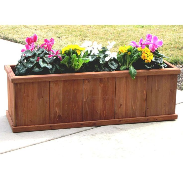 Rectangle Raised Flower Box Planter Bed 2 Tier Soil Pots: 17 Best Ideas About Rectangular Planters On Pinterest