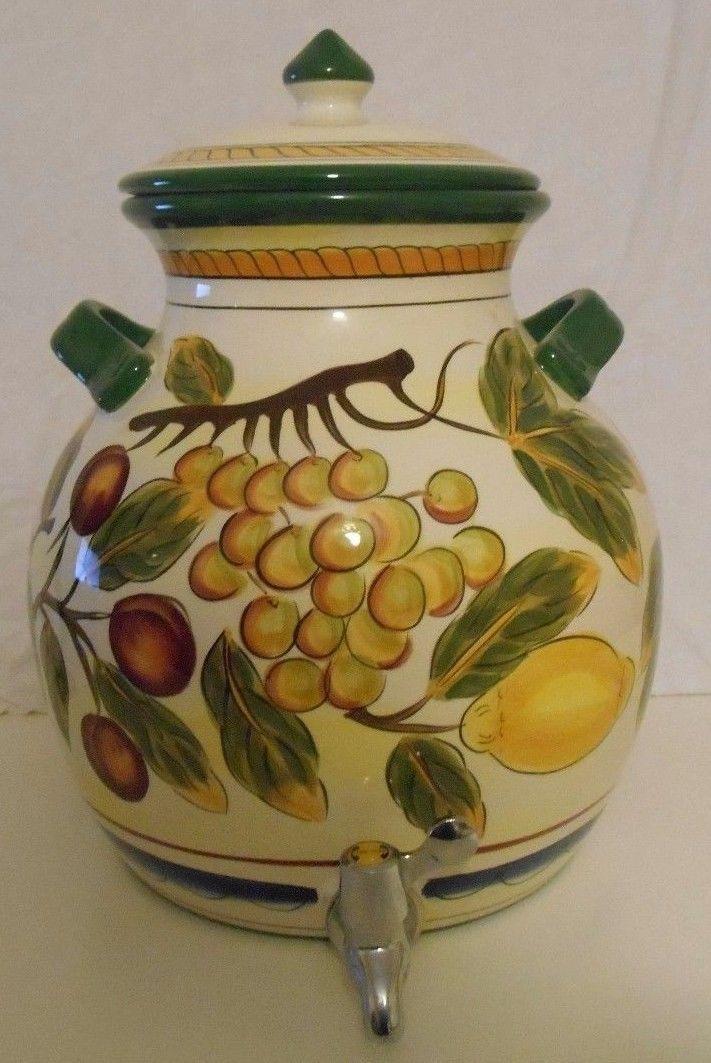 Large 3.8 Gallon Beverage Dispenser Tabletops Gallery Italian Fruit
