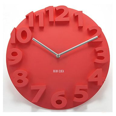 14 reloj de pared mudo número 3d - USD $ 24.99