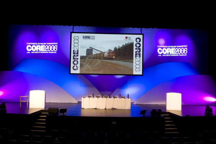 CORE 2008 stage set and gobo production.  Gobos are a cheap and effective way to recognise your organisation or important sponsor