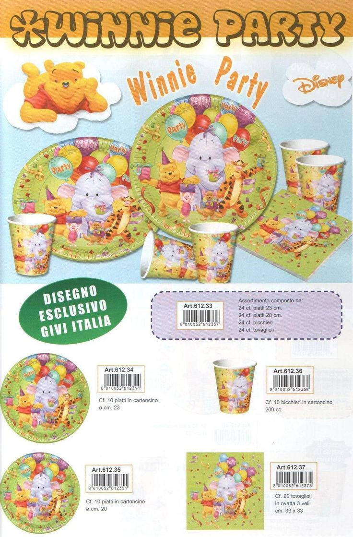 Tovaglioli con fantasia di Winnie The Pooh: disponibili in versione da 3 veli in confezioni da 20 pezzi.