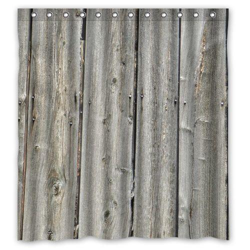 """Alibaba グループ   AliExpress.comの シャワー カーテン からの Customシャワーカーテン66"""" ×"""" 72の疲れを検索してあなたの浴室のための特別なシャワーカーテン?その後it\\\'sを検討するために時間を設計することは、 特別なシャワーカーテンを使用することによってあなたのお気に入りの写真、 画 中の Bbc ヴィンテージ素朴な古い納屋木材カスタム シャワー カーテン 66 """"× 72""""防水生地の シャワー カーテン浴室"""