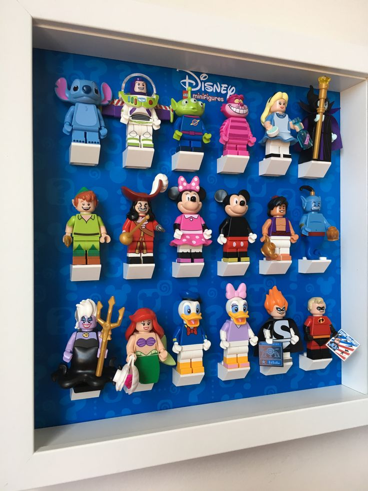 The final solution to your Lego Disney Minifigures Display Frame, 71012 minifigures collection. Show them in an organized way and keep them safe and dust free.