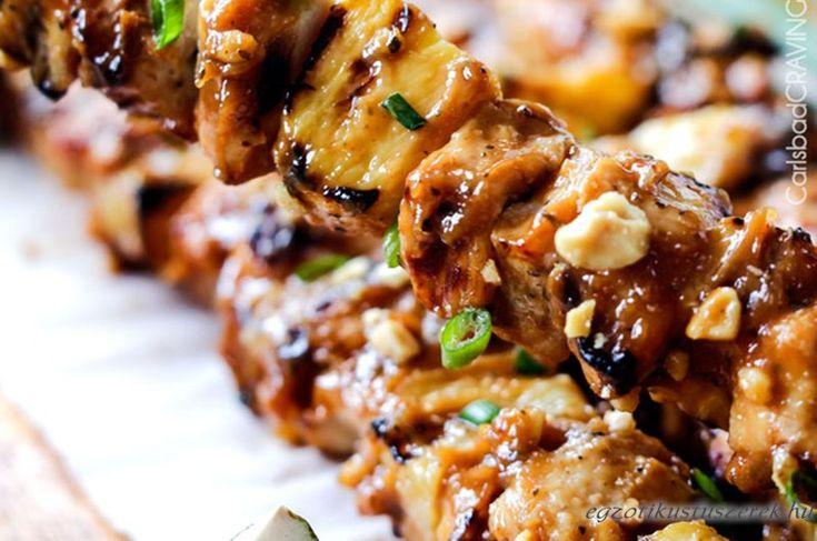 Ananász-Földimogyorós Csirke Grill