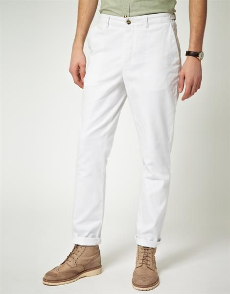 Мужские белые брюки фото