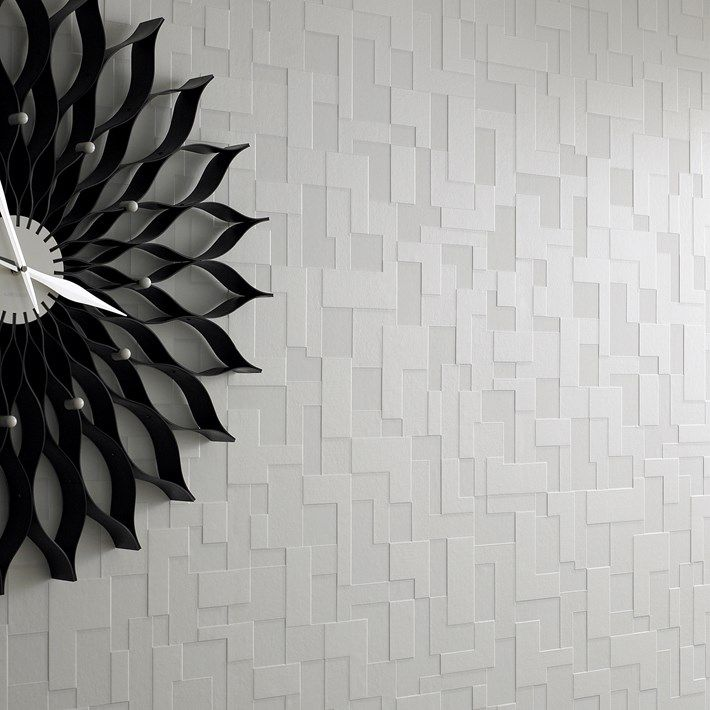 Checker White Tile Wallpaper - Geometric Wall Coverings by Graham Brown