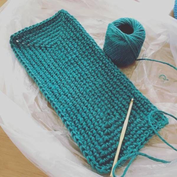 長方形の編み方。