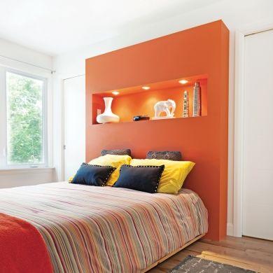 Une tête de lit punchée! - Chambre - Inspirations - Décoration et rénovation - Pratico Pratiques