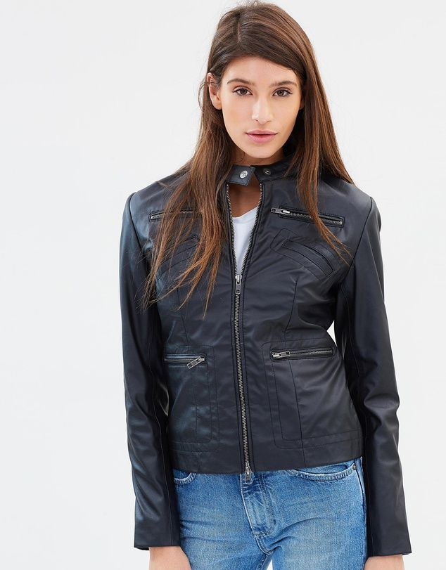 The Bonnie Vegan Leather Embroidered Biker Jacket By James Co Proves That Fashion Can Be Simultaneously Ethical Vegan Leather Vegan Leather Jacket Biker Jacket